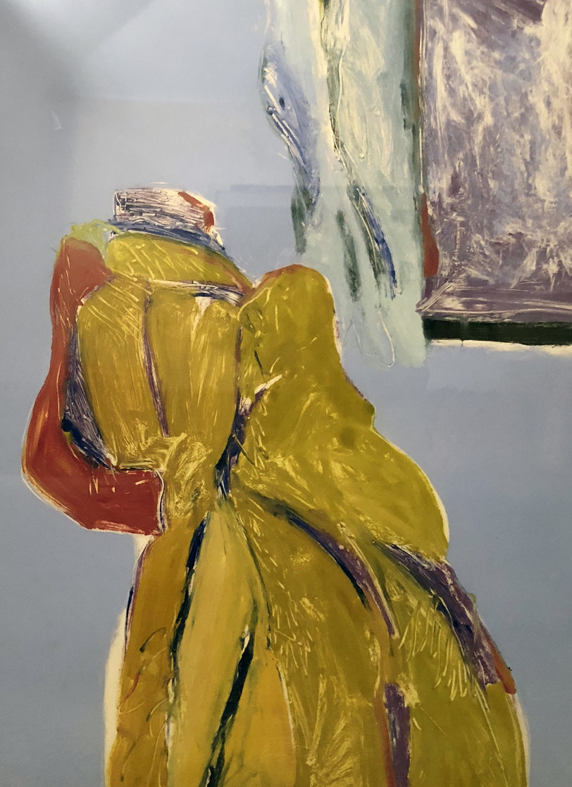 Mystery Woman Monotype 1986 58x48 Super Huge Works on Paper (not prints) by Fritz Scholder