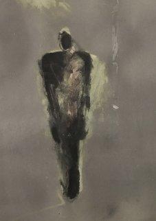 Floating Portrait #2 Works on Paper (not prints) - Fritz Scholder