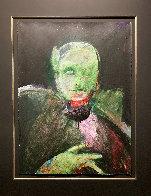 Grimnir 1991 43x35 Original Painting by Fritz Scholder - 1