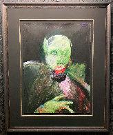 Grimnir 1991 43x35 Original Painting by Fritz Scholder - 5