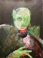 Grimnir 1991 43x35 Original Painting by Fritz Scholder - 0