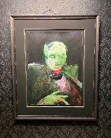 Grimnir 1991 43x35 Original Painting by Fritz Scholder - 6
