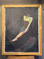 Untitled Acrylic Painting 1988 34x27 Original Painting by Fritz Scholder - 1