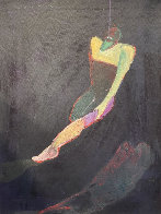 Untitled Acrylic Painting 1988 34x27 Original Painting by Fritz Scholder - 2
