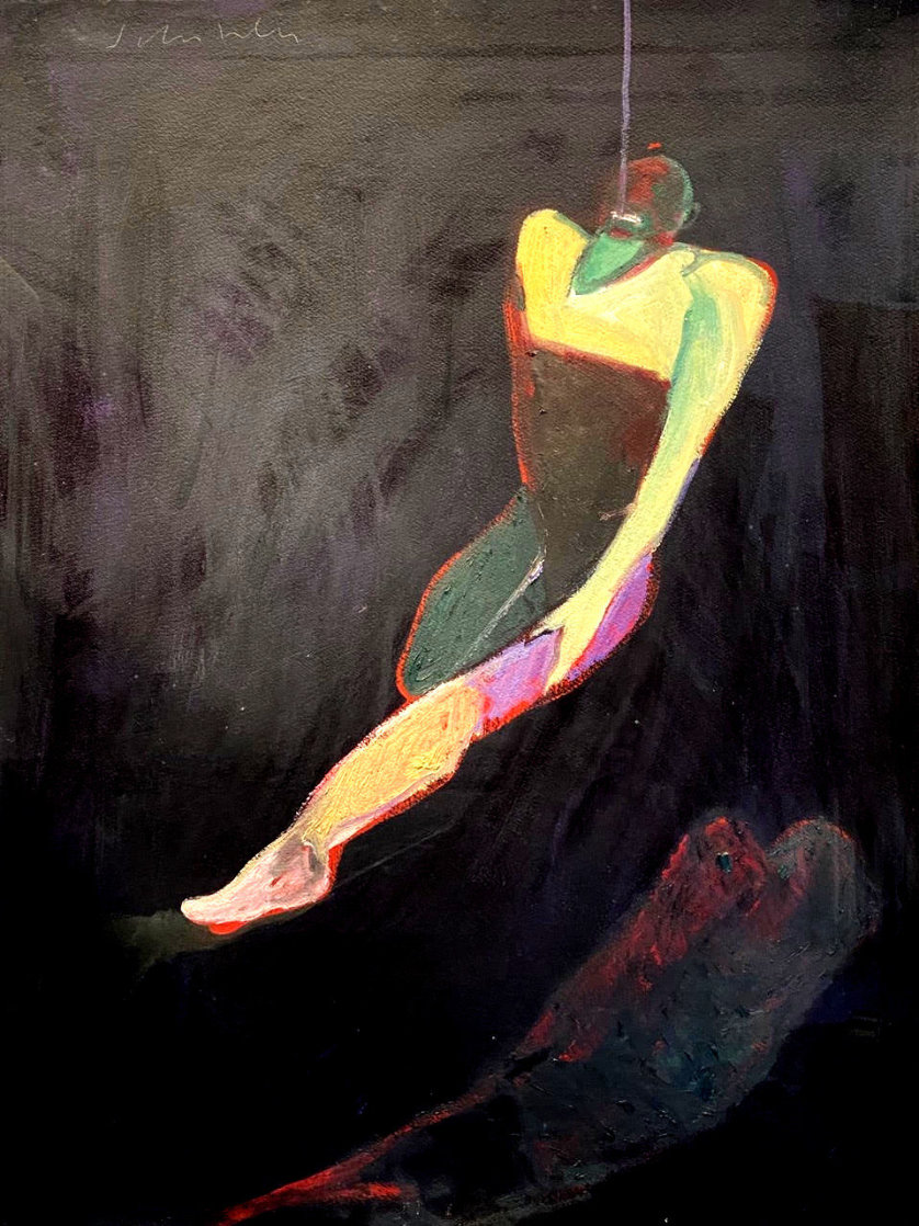 Untitled Acrylic Painting 1988 34x27 Original Painting by Fritz Scholder