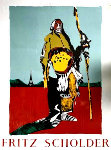 Indian in Paris Poster HS Limited Edition Print - Fritz Scholder