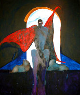 Possession With Clouds 1989 82x70 Super Huge Original Painting by Fritz Scholder - 0