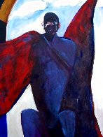 Possession With Clouds 1989 82x70 Super Huge Original Painting by Fritz Scholder - 1