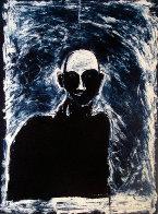 Blue Portrait 1991 Limited Edition Print by Fritz Scholder - 1