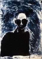 Blue Portrait 1991 Limited Edition Print by Fritz Scholder - 0