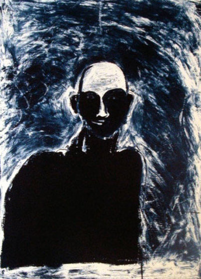 Blue Portrait 1991 Limited Edition Print by Fritz Scholder