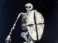 Skeleton With Shield 1986 Limited Edition Print by Fritz Scholder - 2