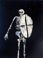Skeleton With Shield 1986 Limited Edition Print by Fritz Scholder - 1