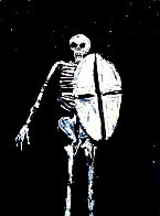 Skeleton With Shield 1986 Limited Edition Print by Fritz Scholder - 0