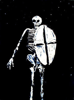Skeleton With Shield 1986 Limited Edition Print by Fritz Scholder