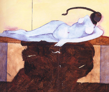 Lilith (Adams' first wife from the bible) 1992 68x80 Original Painting - Fritz Scholder