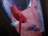 Possession with Broken Wing 1989 30x40 Huge Original Painting by Fritz Scholder - 6