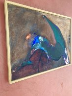 Possession with Broken Wing 1989 30x40 Huge Original Painting by Fritz Scholder - 11