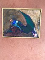 Possession with Broken Wing 1989 30x40 Huge Original Painting by Fritz Scholder - 9