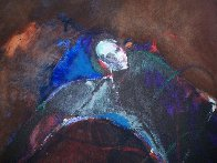 Possession with Broken Wing 1989 30x40 Huge Original Painting by Fritz Scholder - 2