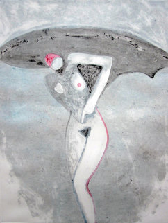 Lilith 1 (From the Lilith Series) Monotype 1992 41x30 Works on Paper (not prints) by Fritz Scholder