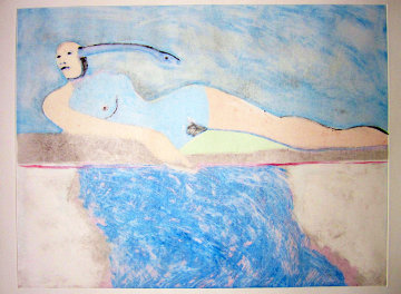 Lilith 2 (From the Lilith Series) Monotype 1992 30x41 Works on Paper (not prints) - Fritz Scholder