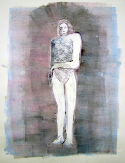 Mystery Woman Series, #2 Monotype 1990 41x30 Works on Paper (not prints) by Fritz Scholder