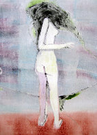 Mystery Woman 2 (Standing Nude) Monotype 1990 30x22 Works on Paper (not prints) by Fritz Scholder - 1