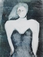 Mystery Woman Series, #4 Monotype 1990 30x22 Works on Paper (not prints) by Fritz Scholder - 0