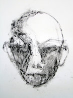 Face #1 (Face Series) Monotype 1985 40x30 Works on Paper (not prints) by Fritz Scholder - 1