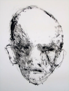 Face #2 (Face Series) Monotype 1985 40x30 Works on Paper (not prints) by Fritz Scholder