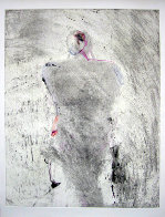 Entity Series #1 Monotype 1986 41x30 Works on Paper (not prints) by Fritz Scholder - 0