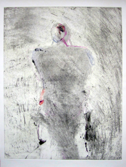 Entity Series #1 Monotype 1986 41x30 Works on Paper (not prints) by Fritz Scholder
