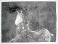 Dream Horse Series, #1 Monotype 1986 30x40 Works on Paper (not prints) by Fritz Scholder - 0