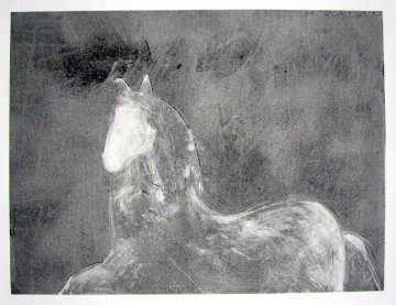 Dream Horse Series, #1 Monotype 1986 30x40 Works on Paper (not prints) by Fritz Scholder