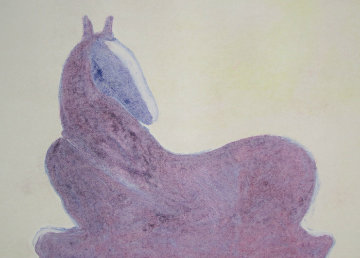 Dream Horse Series, #2  Monotype 1986 30x41 Works on Paper (not prints) by Fritz Scholder