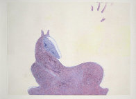 Dream Horse Series, #2  Monotype 1986 30x41 Works on Paper (not prints) by Fritz Scholder - 1