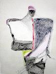 Portrait with Suit Series, #1 Monotype 1983 40x30 Works on Paper (not prints) - Fritz Scholder