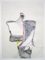 Portrait with Suit Series, #1 Monotype 1983 40x30 Works on Paper (not prints) by Fritz Scholder - 1