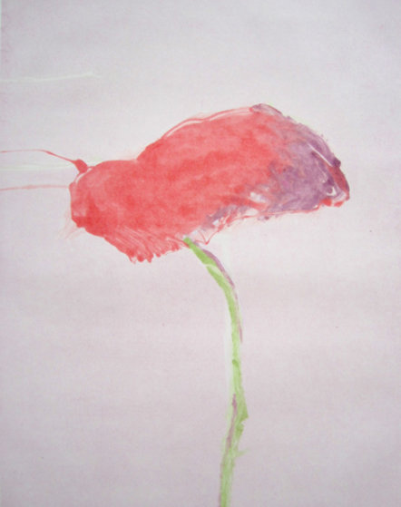 Flower Series, #1 1982 Monotype 40x30 Works on Paper (not prints) by Fritz Scholder