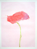 Flower Series, #1 1982 Monotype 40x30 Works on Paper (not prints) by Fritz Scholder - 1