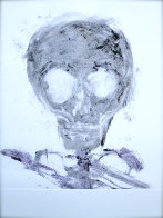 Skull Monotype 1989 30x22 Works on Paper (not prints) by Fritz Scholder - 1