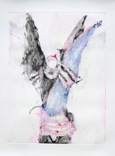 Winged Shaman Monotype 1993 30x22 Works on Paper (not prints) by Fritz Scholder