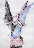 Winged Shaman Monotype 1993 30x22 Works on Paper (not prints) by Fritz Scholder - 1