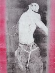Martyr Series Monotype 1993 30x22 Works on Paper (not prints) - Fritz Scholder
