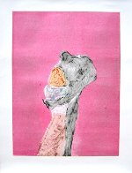 Monster Love Series, #1 Monotype 1986 30x22 Works on Paper (not prints) by Fritz Scholder - 2