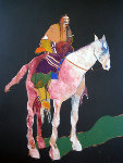 Indian on White Horse 1978 Original Painting - Fritz Scholder
