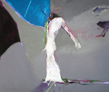 Shaman With Animal #3 1980 68x80 Original Painting by Fritz Scholder