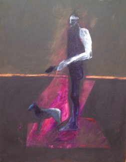 Carnival #23  52x37 Original Painting - Fritz Scholder