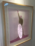 Statue of Liberty Unique Monotype 30x39 Works on Paper (not prints) by Fritz Scholder - 3